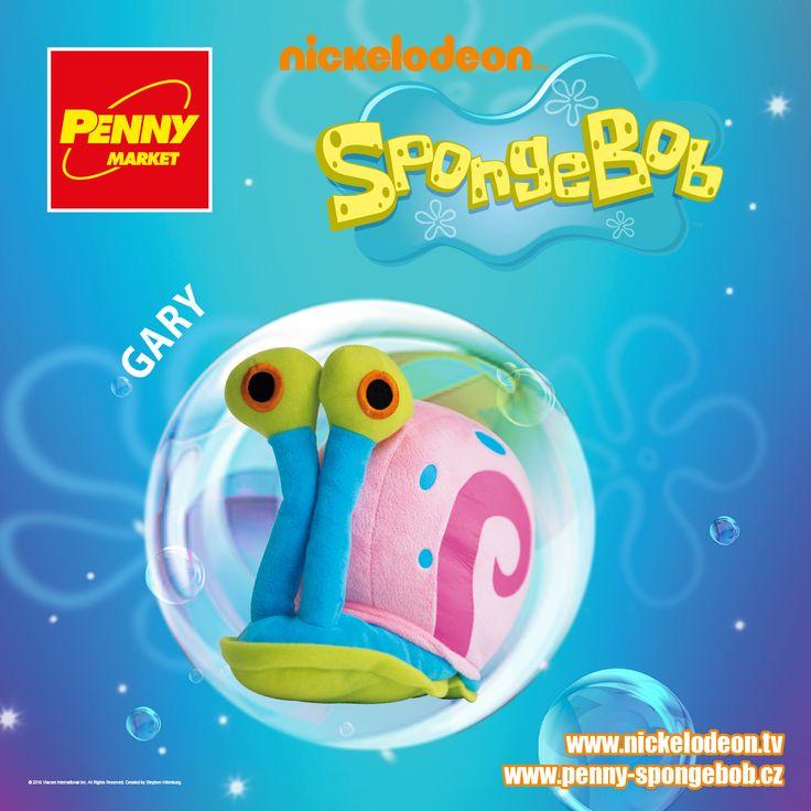 I SpongeBob má svého domácího mazlíčka. Je jím legrační podmořský hlemýžď Gary s růžovou ulitou a modrými puntíky!  Sbírejte známky za nákupy v Penny a získejte plyšového Garyho! Za každých 200 Kč nákupu dostanete 1 známku. Více informací o známkách a cenách SpongeBoba a jeho kamarádů najdete na www.penny-spongebob.cz.