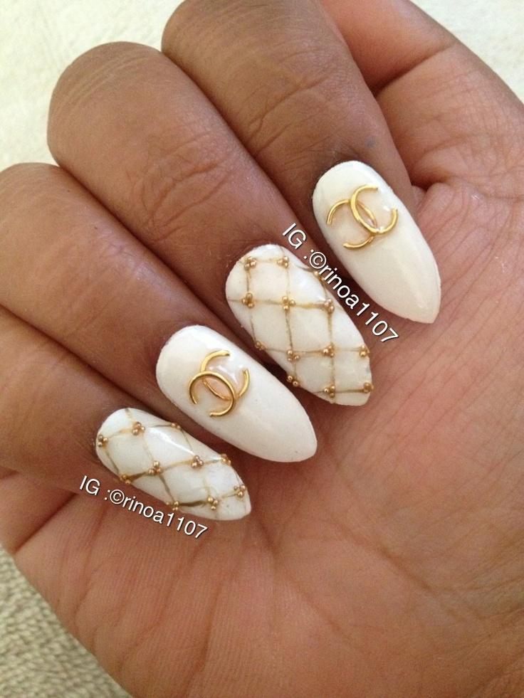48 best nailart images on pinterest nailart gel polish and heart chanel nails prinsesfo Choice Image