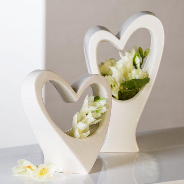 Váza AMORE biela