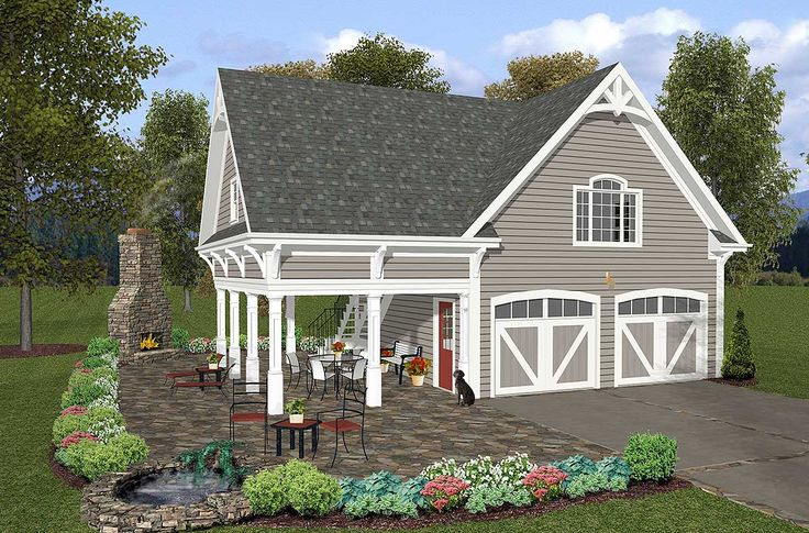 Garage with Storage Above - 20052GA   Narrow Lot, CAD Available, PDF   Architectural Designs
