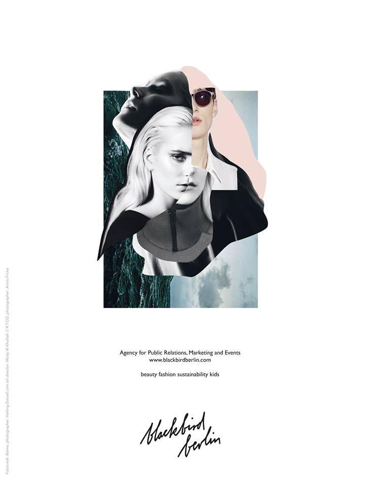 Kollage und Anzeige für Pr Agentur blackbird/berlin Fotocredt: Blame; photographer: Harling Darsell art director: Mody Al Khufash // R.T.CO photographer: Amos Fricke