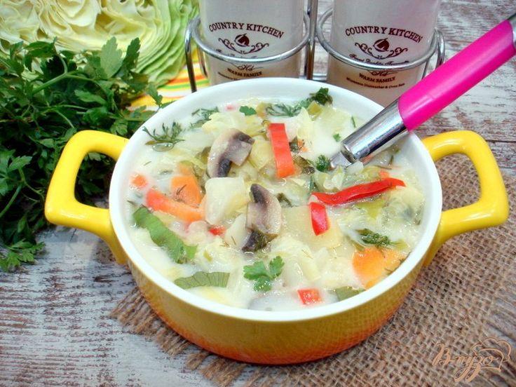 Суп из капусты сырочками