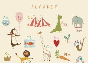 Unglaublich süßes 'Alphabet' Poster
