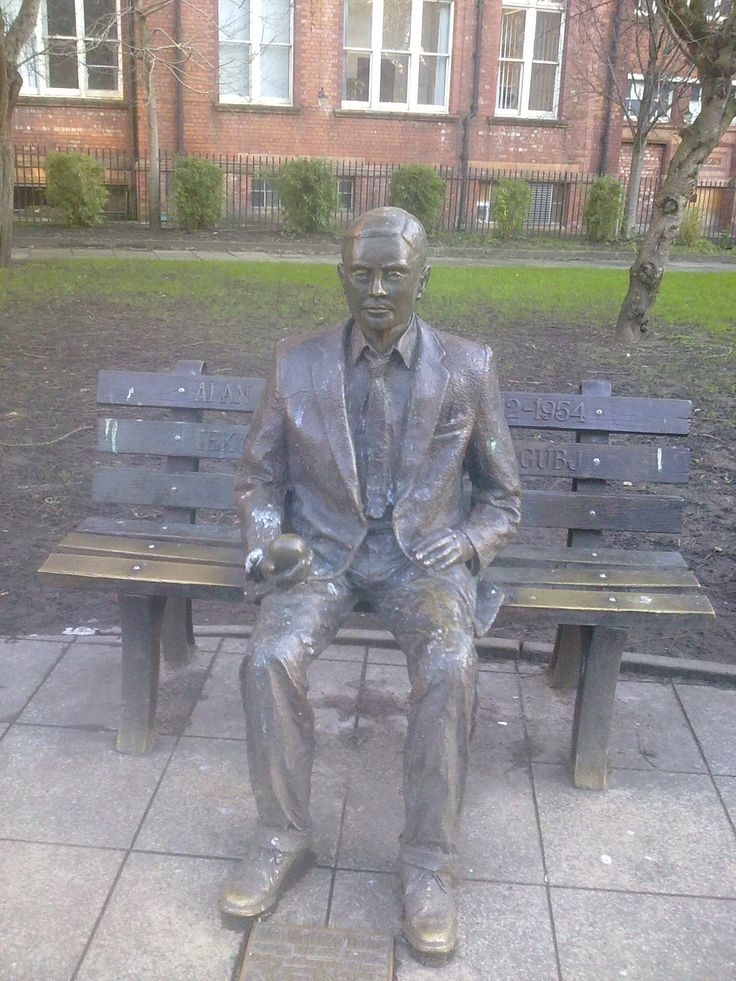 Alan #Turing monument #Manchester