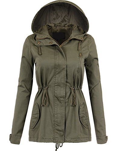 New Trending Outerwear: BEKDO Womens Fully Lined Anorak Jacket with Hooded and Waist Drawstring-L-OLIVE. BEKDO Womens Fully Lined Anorak Jacket with Hooded and Waist Drawstring-L-OLIVE   Special Offer: $29.99      299 Reviews This forever classic military hooded and waist drawstring anorak jacket is a stapled item for perfect outerwear with your favorite denim jeans for an instant edgy look....
