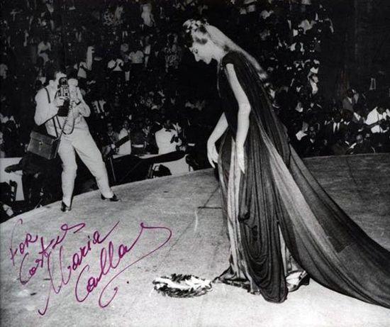 Maria Callas performing as Norma in Epidaurus, 1960