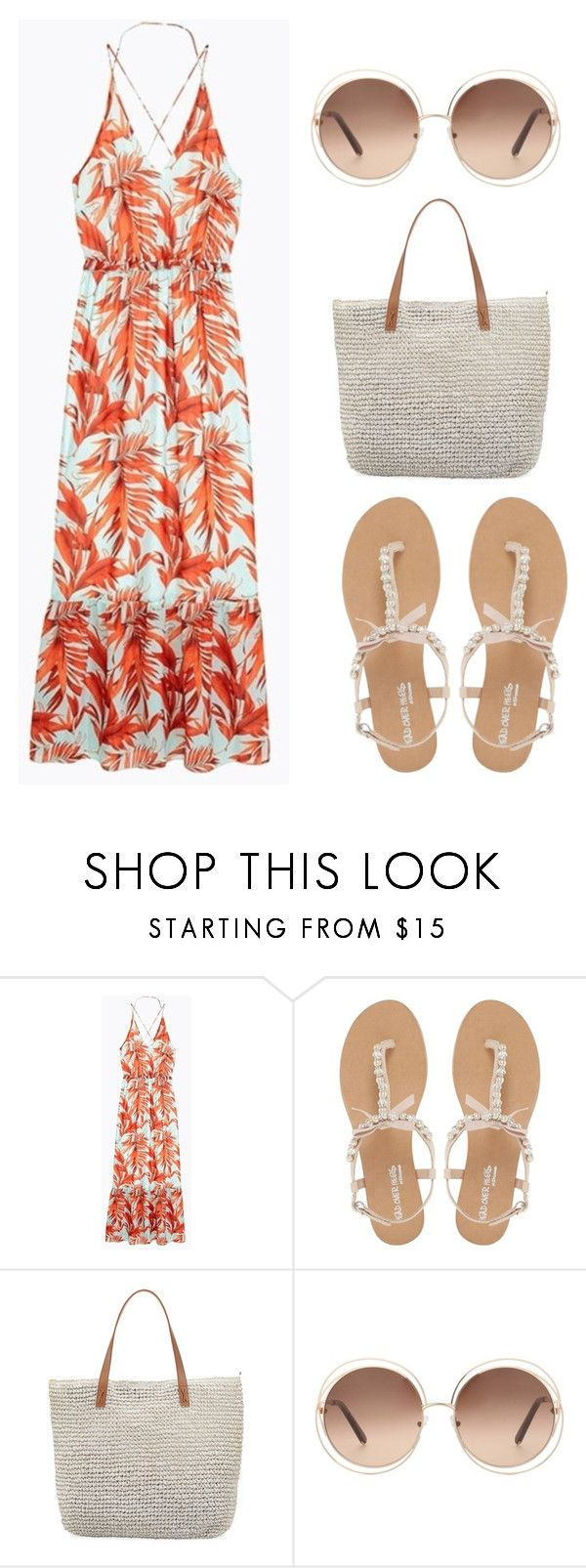 """Untitled #124"" by putrinaini on Polyvore featuring Head Over Heels by Dune, Seafolly and Chloé"