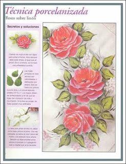 Cantinho Feliz Da Graciele : Passo a passo pintura rosas
