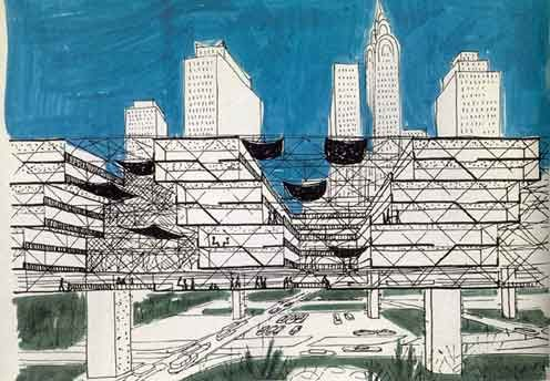 Yona Friedman ...his inspiring work questions the way cities are organized and inhabited...