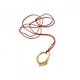 Klenodie Pendant - Handcrafted Danish Design. Klenodie is Danish for treasure, and this Gem is just one of the rediscovered and repurposed treasures in Annette Dickow's Klenodie Collection. Gem is a 14-karat gold pendant, reminiscent of a beautiful ring, strung from a red silk cord. All of the pieces in this collection capture a sense of repurposing old treasures for new jewellery looks and styles. http://www.nuuru.com/en/gem.html