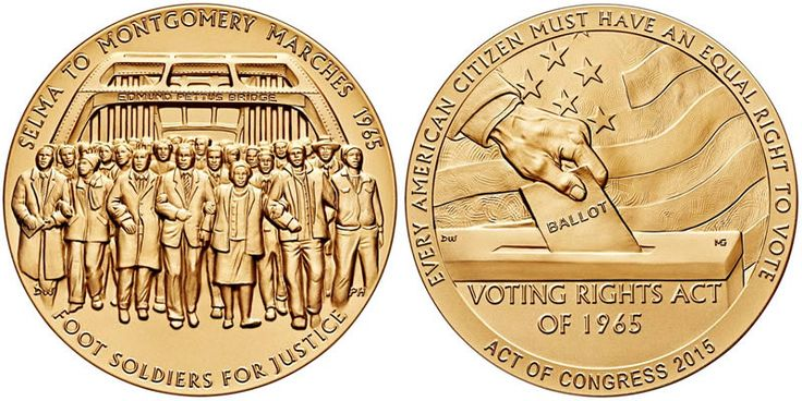 Congressional Gold Medal Presented to the Foot Soldiers of the 1965 Selma to Montgomery Voting Rig - Coin Community Forum