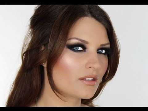 GLAMOUR MAKE-UP TUTORIAL (AMY CHILDS, TOWIE) Pinning for the eye. Will not cake on that much foundation or use bronzer.