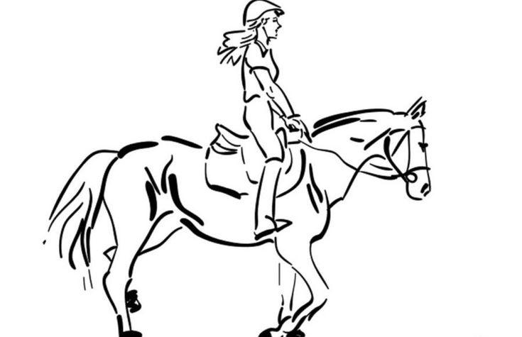 ausmalbilder pferde reiter 49213849438593485