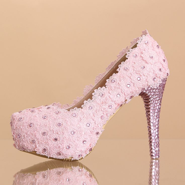 Chaussure A Talon Femme Rose