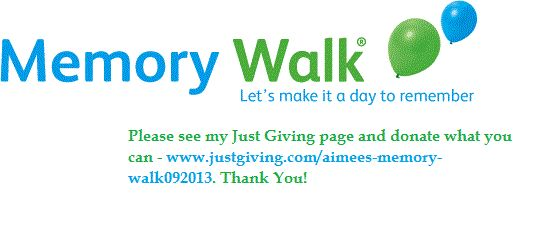 #MemoryWalk2013 #AlzheimersSociety #Dementia #Charity #GoodCause #Swansea #Wales Please donate if you can. Thank You.