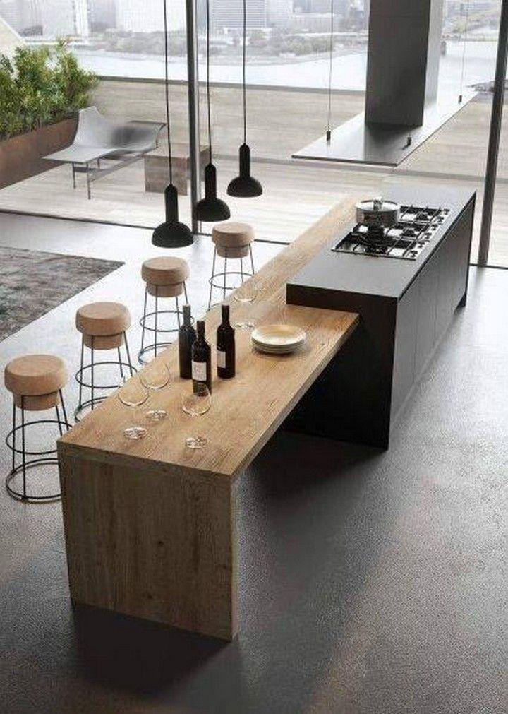 10 Kitchen Island With Drop Down Table Design Ideas Modern Kitchen Tables Modern Kitchen Design Italian Kitchen Design