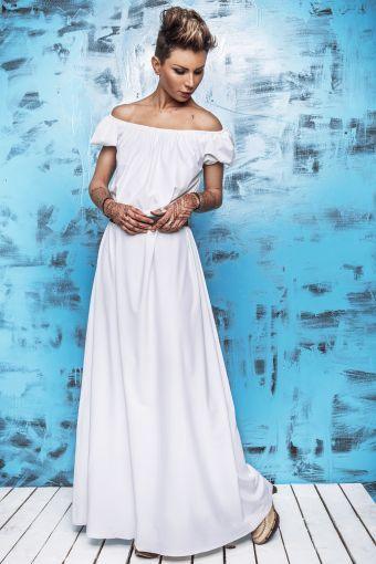 Sukienka White Summer Maxi - sukienka, długa, biała, maxi