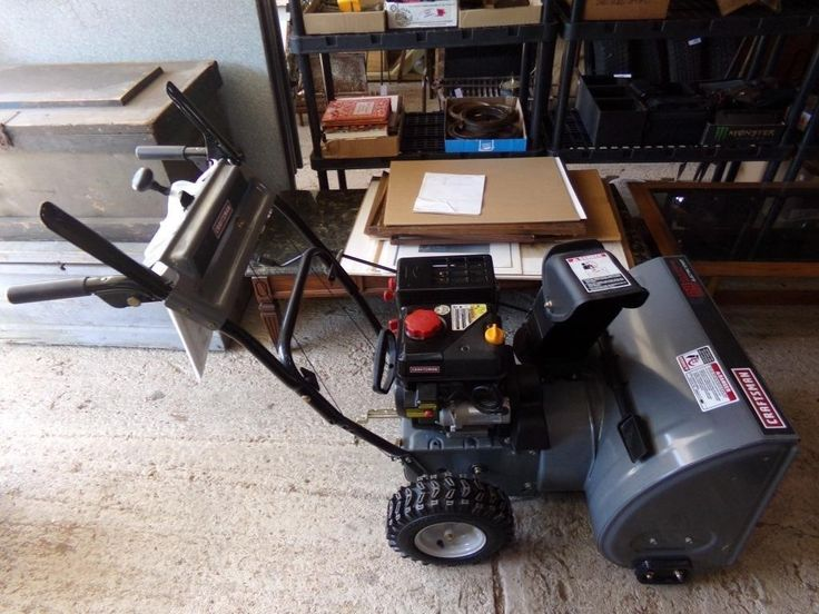 Craftsman 24 snowblower electric start for auction
