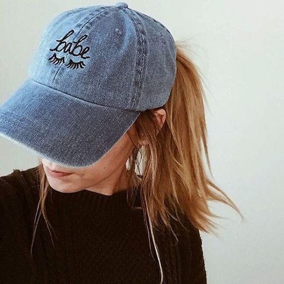The Style Club Babe Denim Hat Uo Accessorize