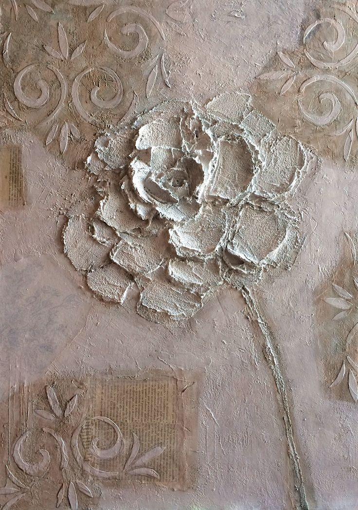 fiore tecnica mista su tela 60x80 #cristianabrondi