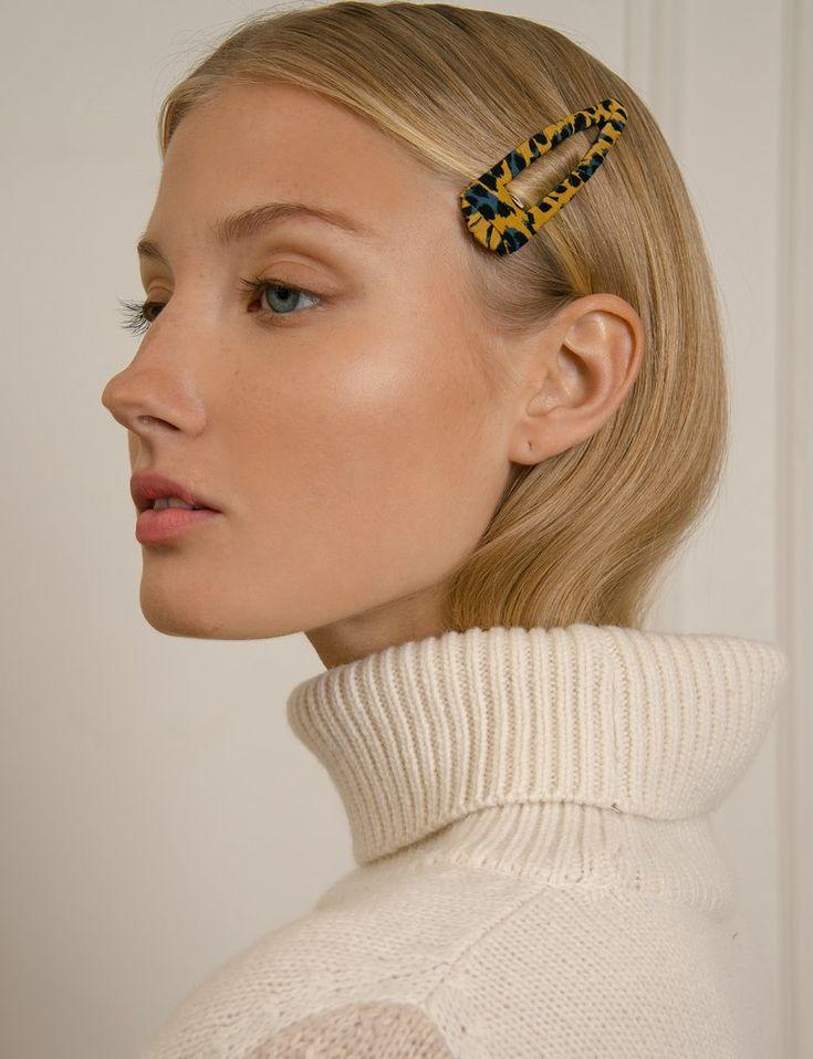 Yellow Leopard Hair Clip
