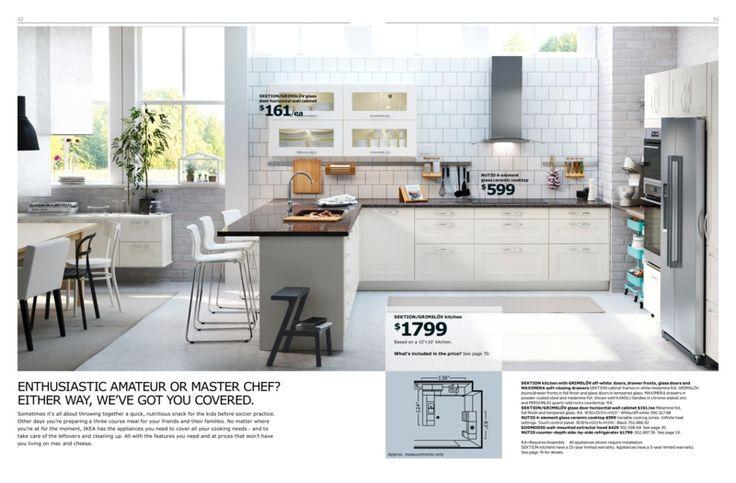 ikea kitchen brochure 2016 sektion grimslov 10x10 kitchen inspiration kitchen breakfast. Black Bedroom Furniture Sets. Home Design Ideas