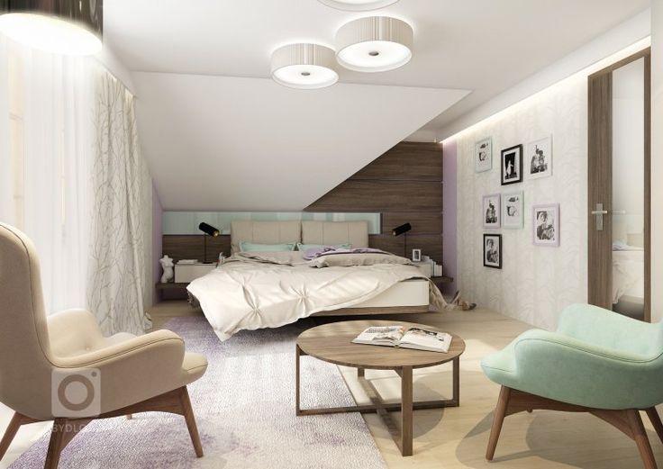 Uklidňující levandulové a mintové pastelové barvy spolu sbéžovou a tmavě hnědou dřevodekoru wenge vytvářejí příjemnou atmosféru pro manželskou ložnici.…