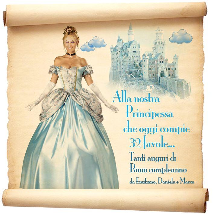 #32 #compleanno #biglietto #auguri #principessa #castello