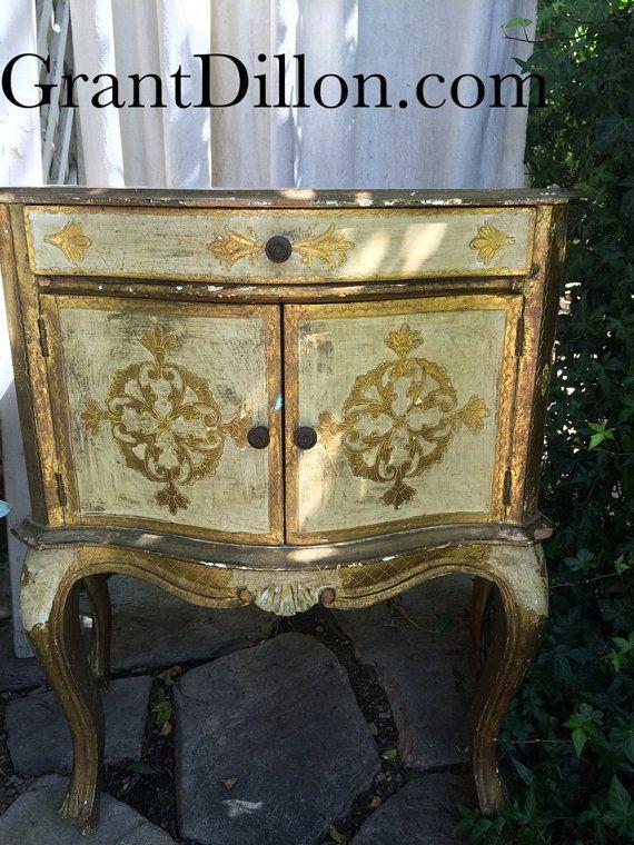 Italian Florentine Nightstand Chest Gold Gilt on Etsy, $285.00