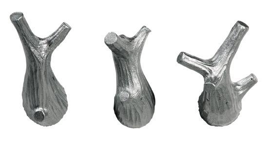 3 LITTLE TWIGS. Mini-hooks, set of 3. Design: Jorine Oosterhoff. Silver