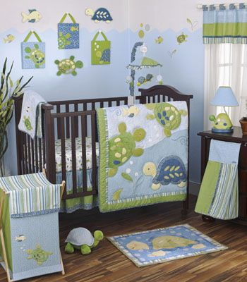 Turtle baby room for a boy