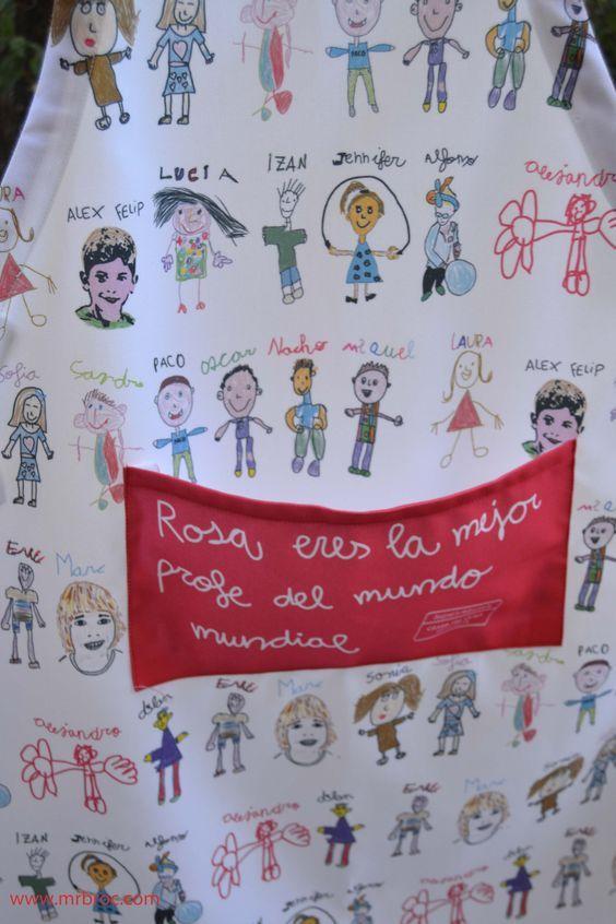 Broc Delantales personalizados con dibujos a todo color. Un regalo original para el profe. www.mrbroc.com: