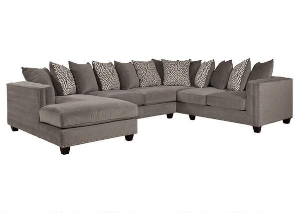 Bristol Silver 3 Pc Sectional Reverse 129 99 Sectional Couches For Sale Sectional Sofa