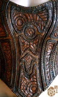 beautifully intricate design in leather armor