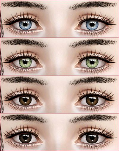 My Sims 3 Blog: Contacts N10 by Eruwen