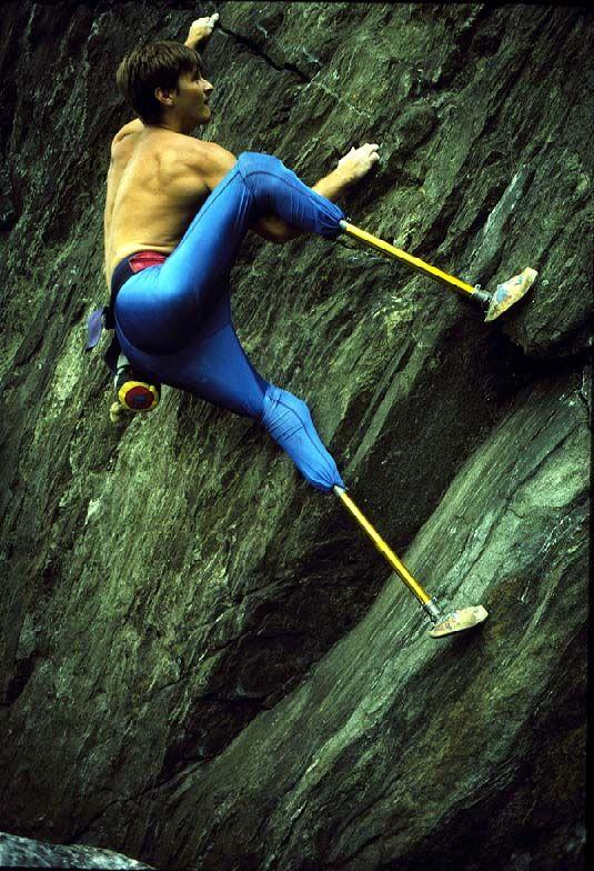 FIXED Highlights from 2012  [Photo: Hugh Herr rock climbing with prosthetic legs.  © Hugh Herr]