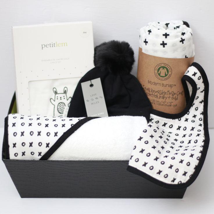 Black & White Baby Girl Gift Basket