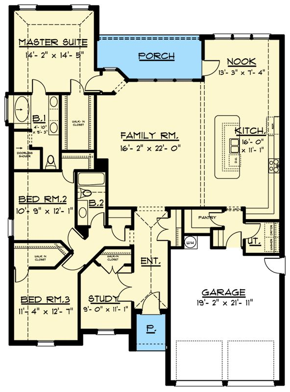 17 best images about homes floor plans on pinterest for Ranch style house plans with bonus room