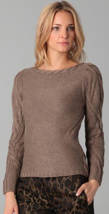 """Вяжем """"Американский"""" пуловер спицами 5."""