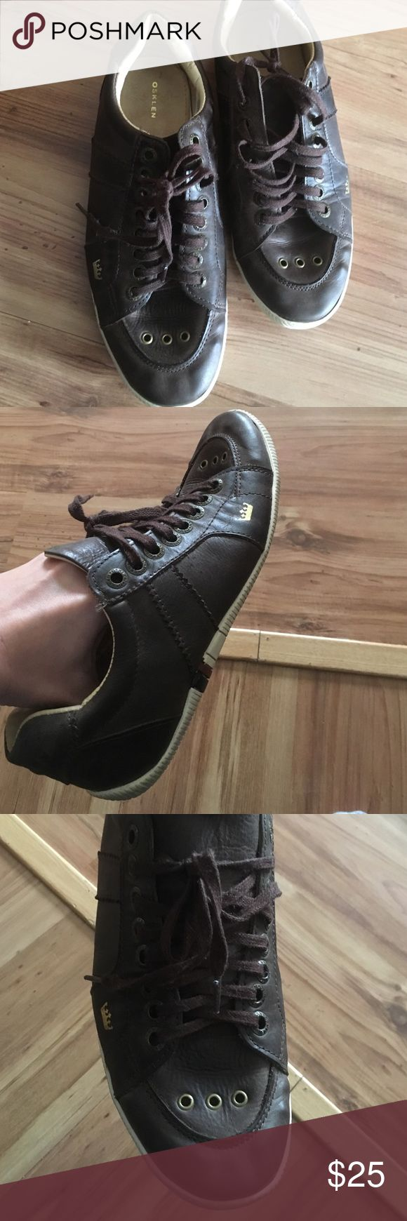 Osklen shoes. Like new Brown leather. Made in Brazil. Osklen Shoes Sneakers