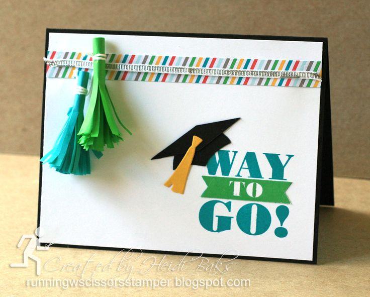 Card Making Ideas Graduation Part - 32: Graduation Tassels By Stampinu0027 Up Bravo