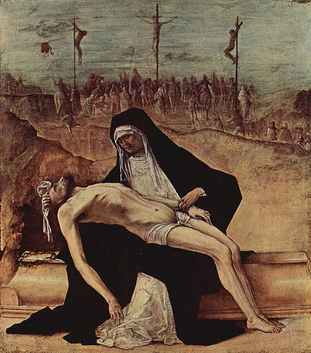 """""""Pietà"""". (by Ercole de' Roberti, * 1451 - 1496)."""