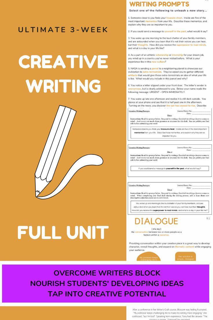 3-Week Creative Writing BUNDLE | Interactive Activities