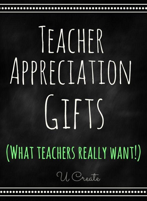 Teacher Appreciation Gifts that teachers REALLY want! Teachers share their favorite gifts!-.