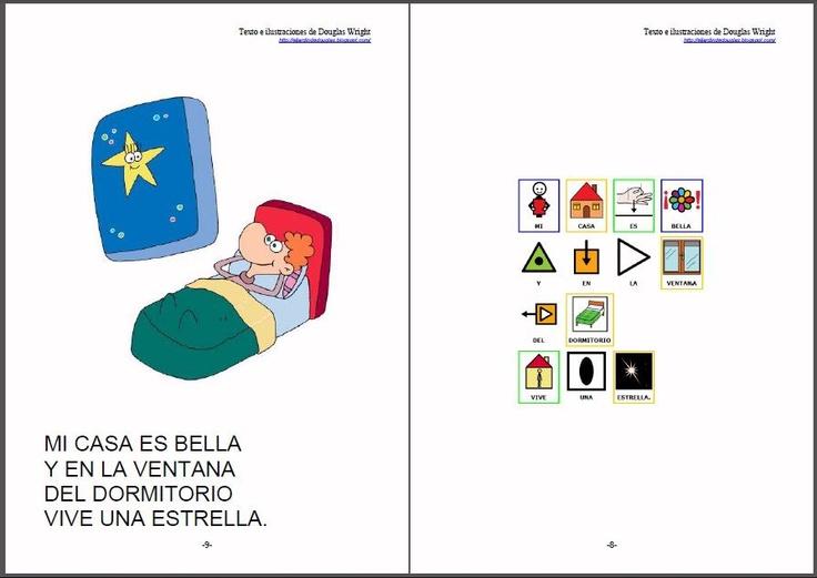 """CUENTOS ADAPTADOS - """"Cómo es mi casa"""".    Adaptación de cuentos y poesías de Douglas Wright a pictogramas para la comunicación.    Douglas Wright es ilustrador, humorista, creador de juegos visuales y autor de libros para chicos. Sus dibujos aparecen en libros y revistas de la Argentina y en diarios de otros países.     http://arasaac.org/materiales.php?id_material=578  Fuentes:  http://eljardindedouglas.blogspot.com/   http://otrosdouglas.blogspot.com/"""