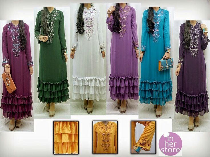 Gamis/Jubah by In Her Store Indonesia - Leica Series Material : Chiffon Cerutti Size : S – M – L – XL Retail Price : Rp 225rb/pc Reseler Price : Rp 200rb/pc (min.3pcs, mix size & colours allowed) PIN : 75BD8849 Line : go2dika