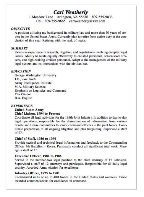 Example Of INfantry Officer Resume - http://exampleresumecv.org/example-of-infantry-officer-resume/