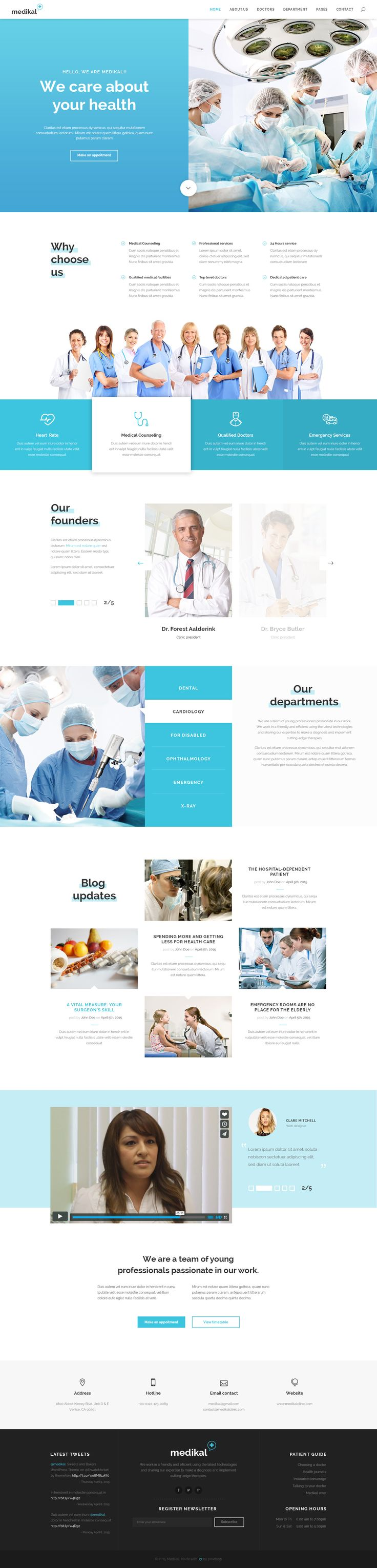 Medikal - Health Care & Medical PSD Template