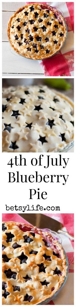 4th of July Blueberry Pie | Betsylife.com