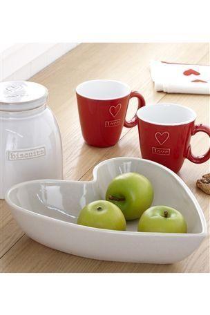 Heart Fruit Bowl In The Kitchen Pinterest